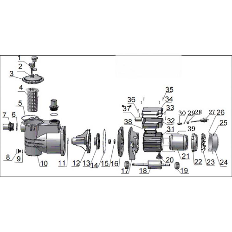Aquastar 12 14 15 pumpe ersatzteile nr 25 for Pool ersatzteile stahlwand
