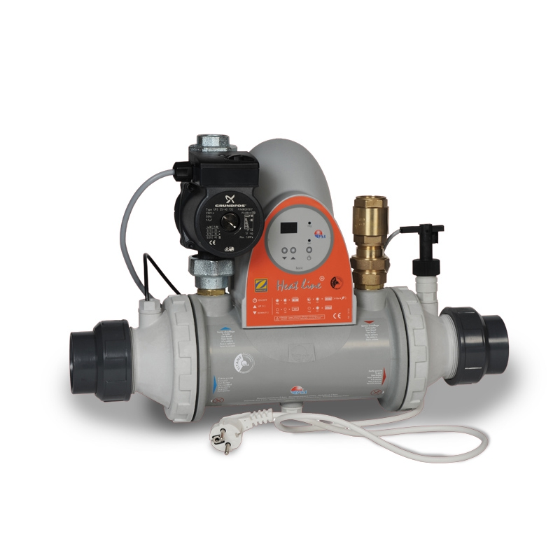 Heat line plus titan mit steuerung und pumpe pool r hrenw au - Pool rechteckig mit pumpe ...