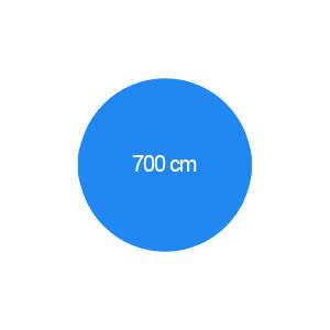 Rundbecken 700 cm T=120 cm