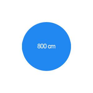 Rundbecken 800 cm T=120 cm