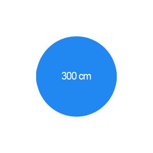 Rundbecken 300 cm T=150 cm