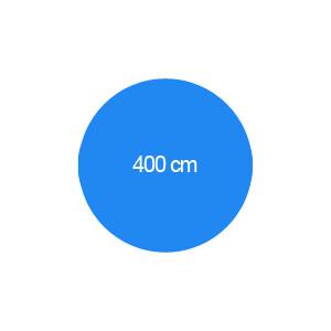 Rundbecken 400 cm T=150 cm