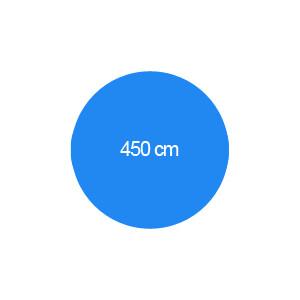Rundbecken 450 cm T=150 cm