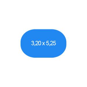 Ovalbecken 320 x 525 cm T=120 cm