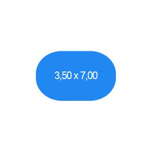 Ovalbecken 350 x 700 cm T=120 cm