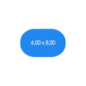 Ovalbecken 400 x 800 cm T=120 cm