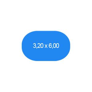 Ovalbecken 320 x 600 cm T=150 cm
