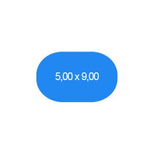 Ovalbecken 500 x 900 cm T=150 cm