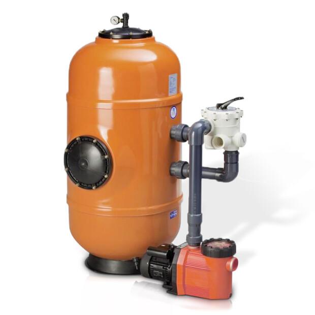 """Sandfilteranlage - DWH 150 Badu - bis 150 m³ Beckeninhalt JA mit 450kg (0,4 - 5,6mm ) 3~400 Volt mit Omnitronic R51/3 A, 2"""""""