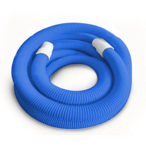 Schwimmschlauch 38mm mit Endtüllen Länge 8 m - blau