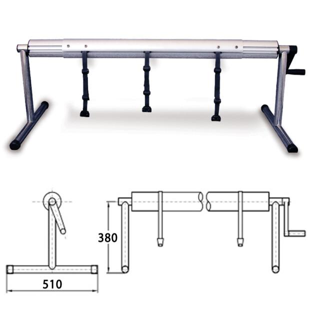 Flexible Aufrollvorrichtung DELUXE bis 6,90  m 410 - 540 cm