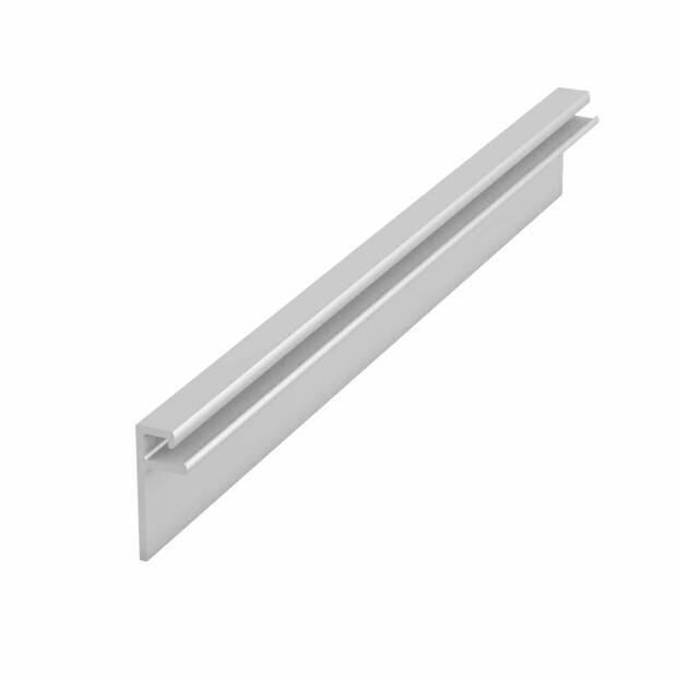 Beckenwand Keilbiesen-Profil für L1200 mm H 45 mm - weiß