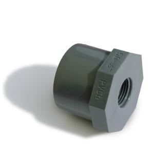 Reduzierung kurz PVC, mit Innengewinde Rohr 50 mm x...