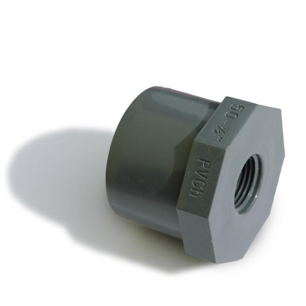 """Reduzierung kurz PVC, mit Innengewinde Rohr 50 mm x 3/4"""""""
