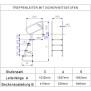 Treppenleiter mit Sicherheitsstufen Holm 43mm - V2A mit Einbauhalterungen