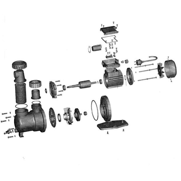 AquaStar 5/7 Pumpe - Ersatzteile Nr. 45 - Kondensator 8uf/450v