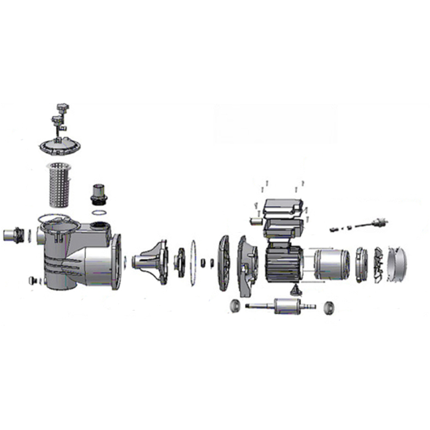 AquaStar 12/14/15 Pumpe - Ersatzteile Nr. 24 - Lüfterradabdeckung