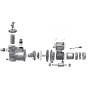 AquaStar 12/14/15 Pumpe - Ersatzteile Nr. 36 - Schrauben-Set (4St.) zu Klemmkastenunterteil
