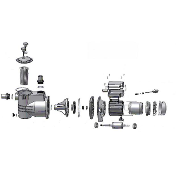 AquaStar 12/14/15 Pumpe - Ersatzteile Nr. 38 - Dichung zu Klemmkastenunterteil / Motor