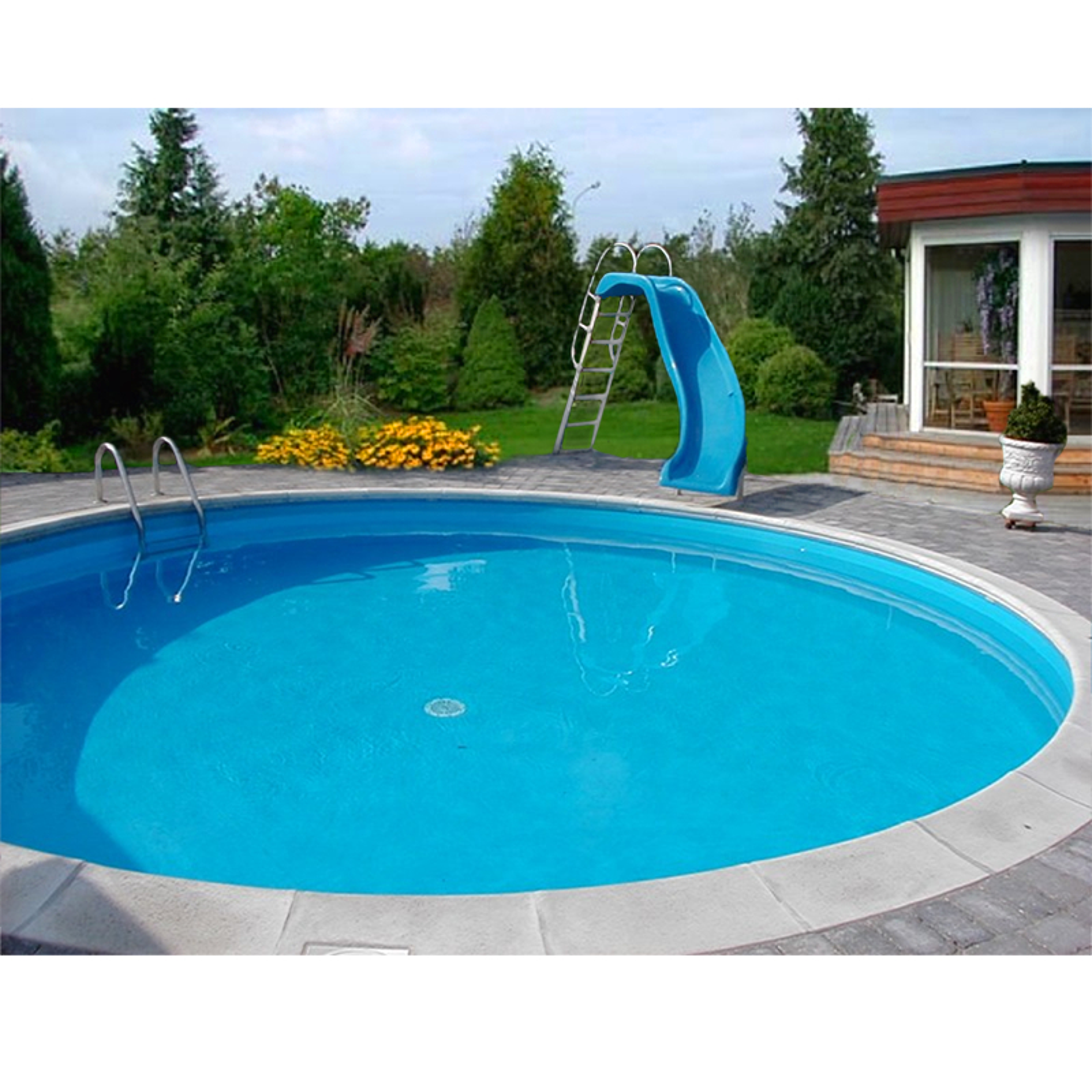 Olympia rund nassgegossene beckenrandsteine pool for Schwimmbecken rund 3m