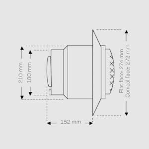 Poolscheinwerfer Ocean M5-V4A Halogen 300W