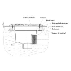 Bodenablauf Ocean M5-V4A für Schwimmbecken