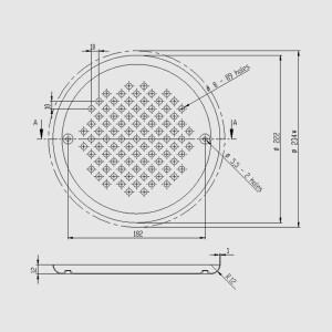 V4A Edelstahlabdeckung für Pool-Bodenablauf Ocean - AISI316