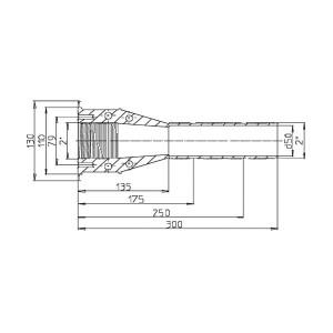 Mauerdurchführung Ocean M5-V4A L300mm deLuxe