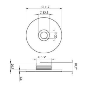Edelstahlabdeckung für Einströmdüse M5-V4A - Artikel X861