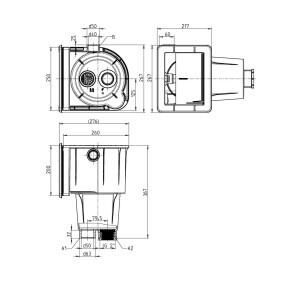 Skimmer Ocean M5-V4A deluxe mit Gewindebuchsen inkl. Edelstahlabdeckung V4A