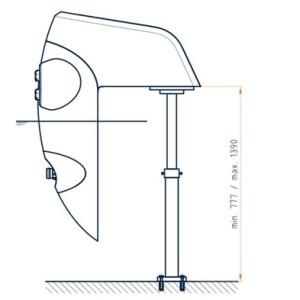 Teleskop-Stützfuß für BADU Jet Perla / Riva & Stella Gegenstromanlage