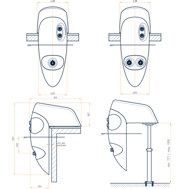 badu jet stella einh nge gegenstromanlage 400 v led wei. Black Bedroom Furniture Sets. Home Design Ideas