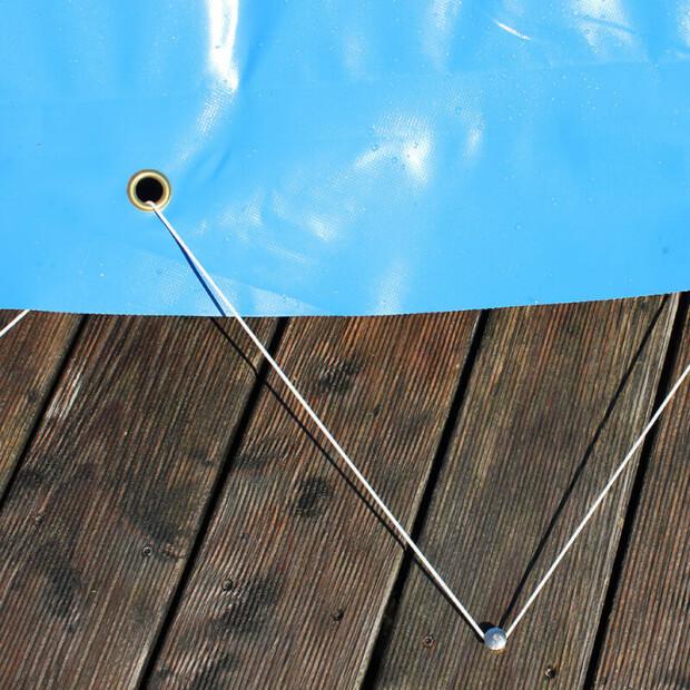 aufblasbare poolabdeckung achtform sommer und winterabdeckung rund 5 m