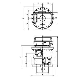 """Rückspülventil Aquastar MP (1 1/2"""", 2"""", 3"""")"""