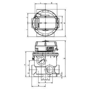 """Rückspülventil Evolution Aquastar comfort 6501 (1 1/2"""", 2"""")"""
