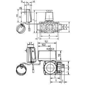 Evolution® Solarsteuerung SC01 mit 3 Wege-Kugelhahn
