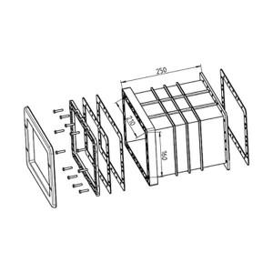 Ocean Skimmer Front-Verlängerung 250mm für Art. X865