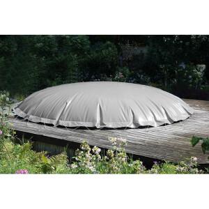 Aufblasbare Poolabdeckung Oval für Achtformbecken Winterabdeckung, grau