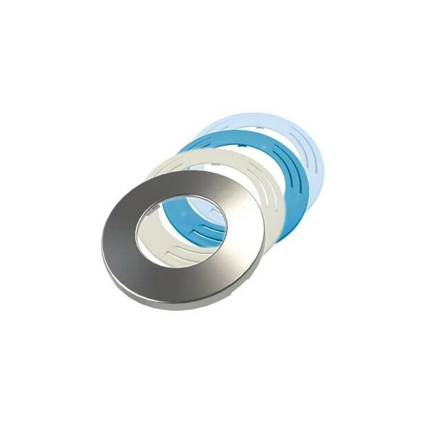 Adagio 17 LED-Scheinwerfer Abdeckung, Kunststoff hellblau