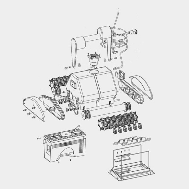 W0044A Schutzgitter f. Motorblock