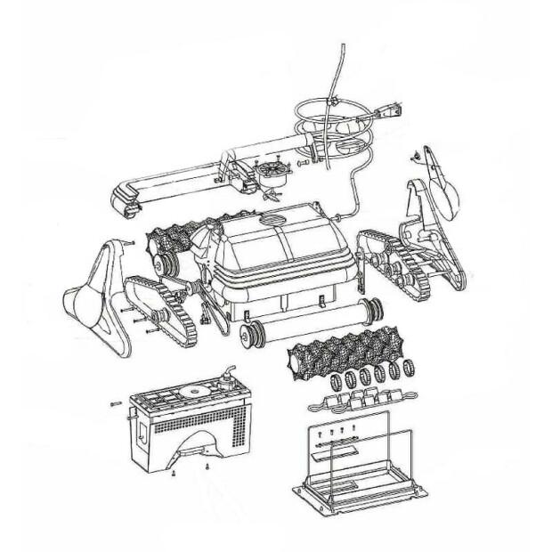 W0044A Schutzgitter Motorblock