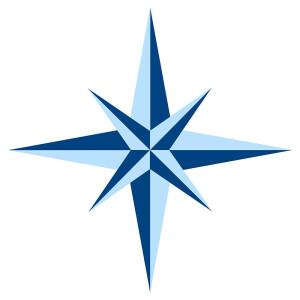 Dekosticker Standard - Serie: Windrosen