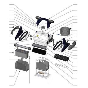 Nr.8 Filterträger komplett 1E, ohne Haken (weiß)
