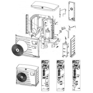 Nr.35 Betriebskondensator für Kompressor (55 µF) für MD5