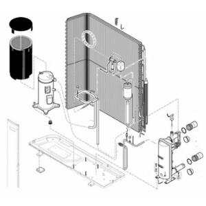 Nr.H Betriebskondensator für Kompressor (60 µF) für EDEN7M
