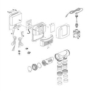 Nr.4 Netzteil (Stromplatine, Ventilator, Alu-Chassis, Hülle)