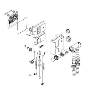 Nr.24 Anschlußverschraubung Ø 63 mm für Zelle