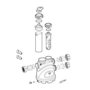 Nr.4 Anschluss-Set, Verschraubung mit Ø 50 / 63 mm Klebeanschluss *