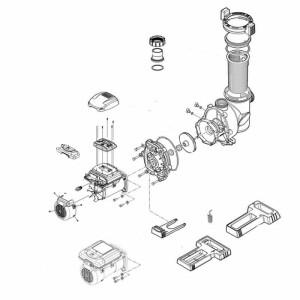 Nr.1 Motoreinheit für FloPro 160 VS AUT, 50 Hz
