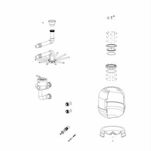 Nr.2 Komplettes Manometerset (mit T-Stück, O-Ring und Entlüftungsschraube)